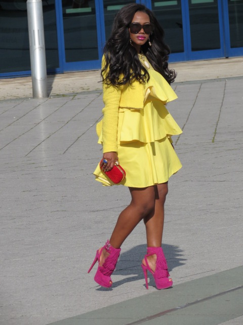 Sick in Yellow...oh and those SHOES!