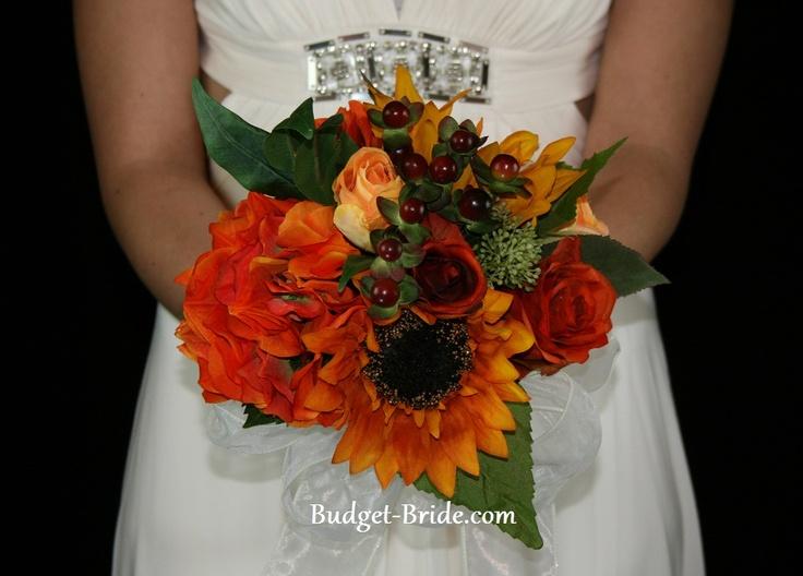 Fall Bridal Bouquet Sunflowers Wedding Pinterest