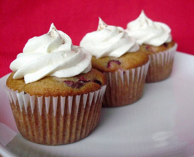 Eggnog Cranberry Cupcakes with White Chocolate Spiced Buttercream ...