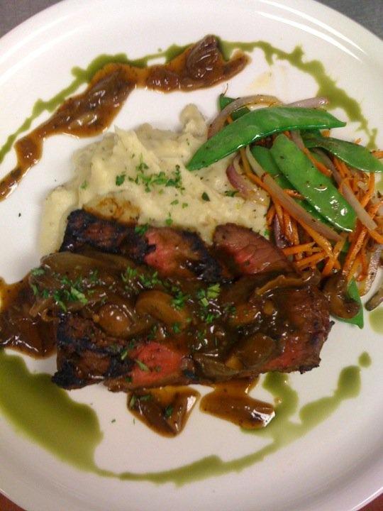 Steak With Caramelized Onion-Jalapeno Sauce Recipe — Dishmaps