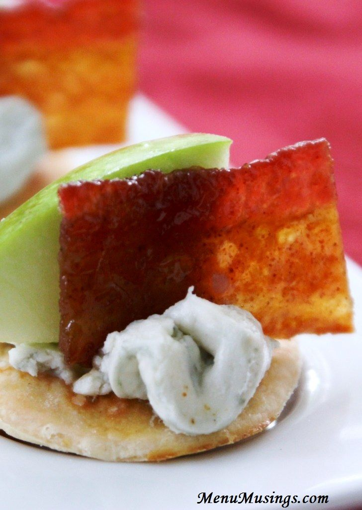 ... the blue cheese, crisp apples, and sweet-smoky-spicy candied bacon
