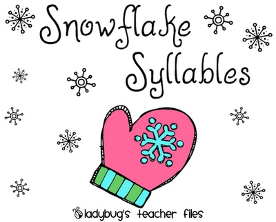 Snowflake Syllables Game {printable} -  Pinned by @PediaStaff – Please Visit http://ht.ly/63sNt for all our pediatric therapy pins