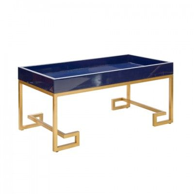 chelsea navy blue lacquer coffee table furniture pinterest