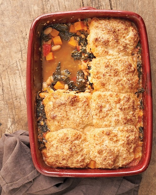 Minestrone and Parmesan Biscuit potpie, I made the biscuit topping and ...