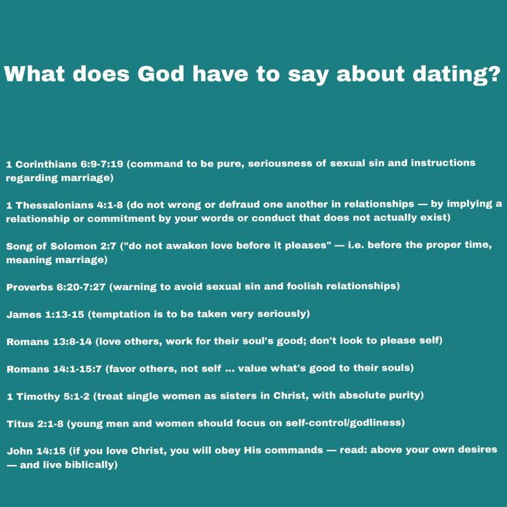 Bible says about dating