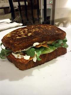 Grilled cheese BLT. I used havarti cheese and spinach for mine. Smoked ...