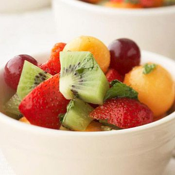 Fresh Fruit Salad with Honey, Mint and Lime Syrup | Recipe