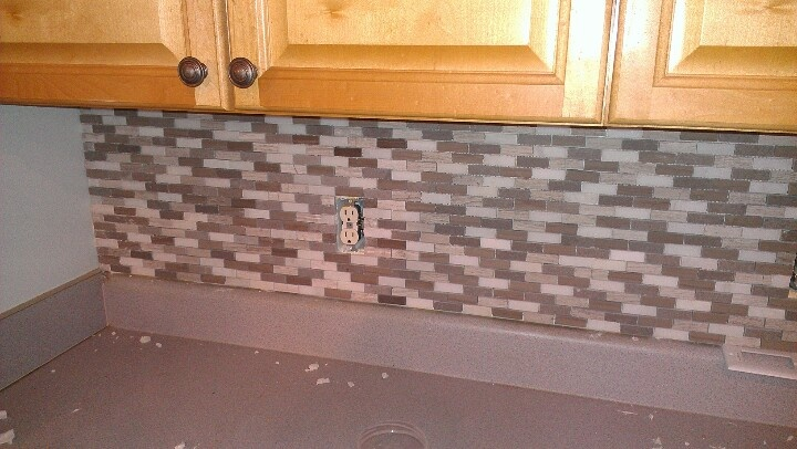 easy backsplash kitchen pinterest