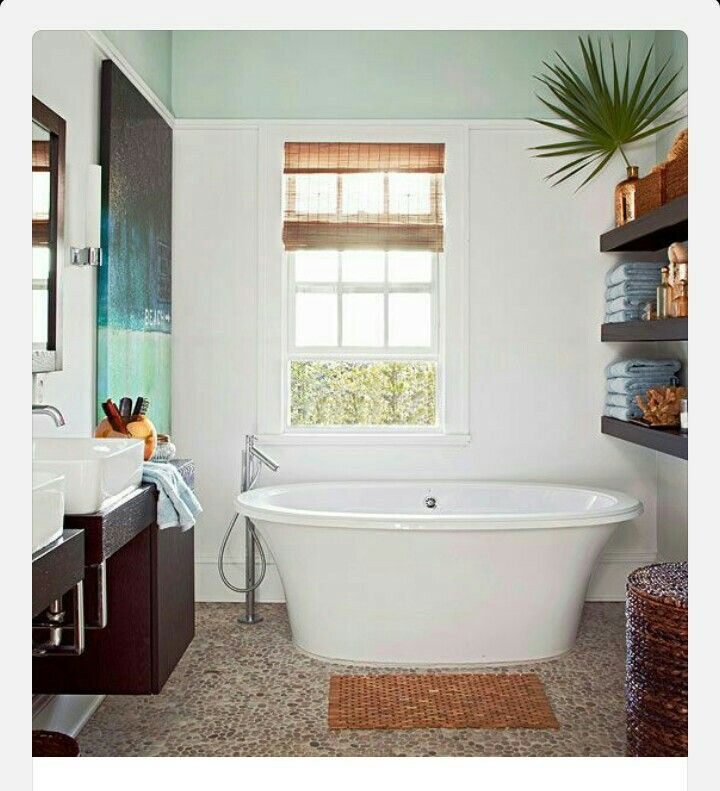 Love this bathroom great island theme ideas for my for Tropical themed bathroom ideas