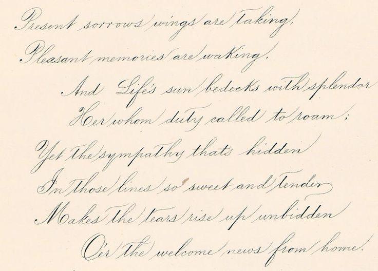 Spencerian Script Fonts And Lettering Pinterest
