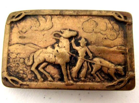 Vintage Stamped Copper belt buckle
