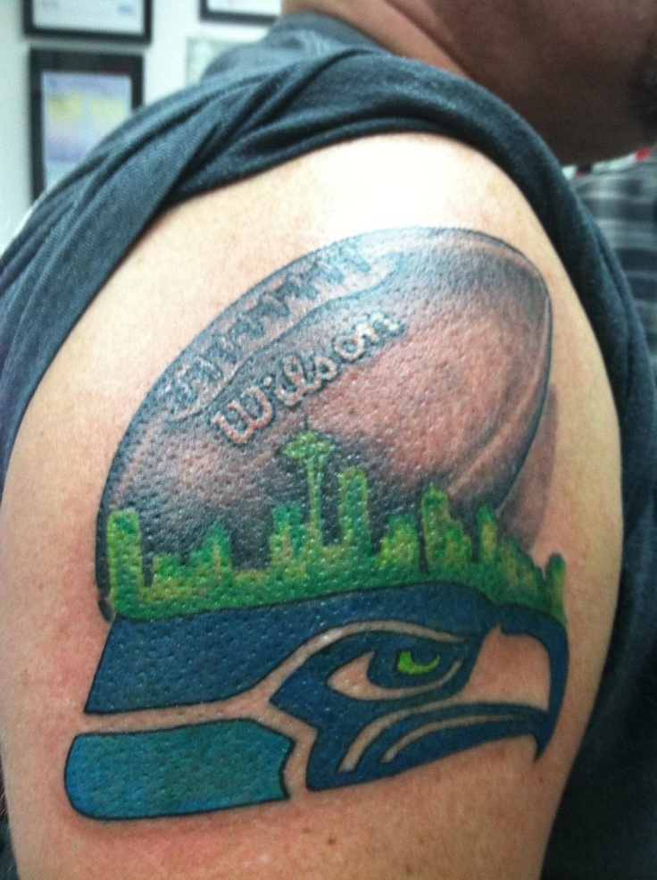 seattle seahawks new tattoo today 1 16 13 crazy tattoos pinterest. Black Bedroom Furniture Sets. Home Design Ideas