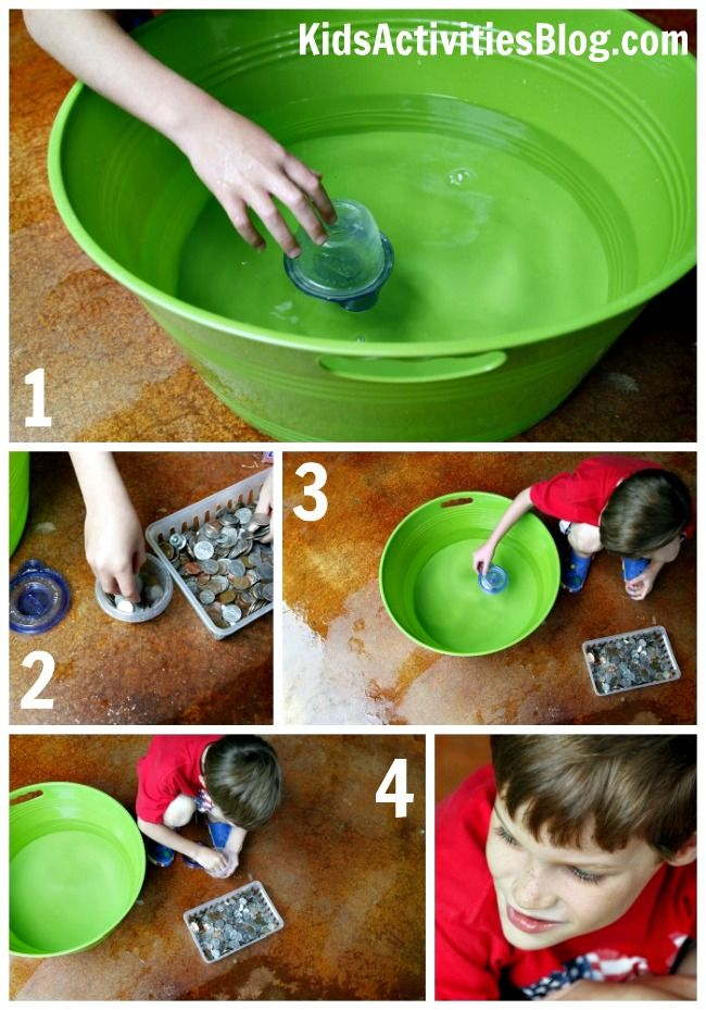 Learning about buoyancy with simple household items from Kids Activities Blog.