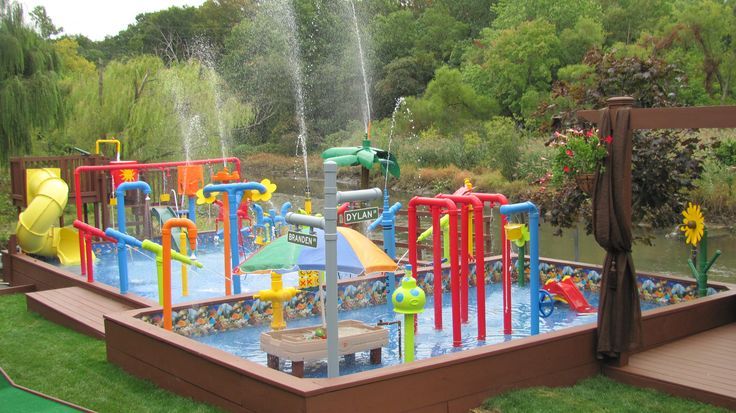 the water park is completed backyard kids waterpark pinterest