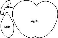apple stem and leaf pattern sewing pinterest