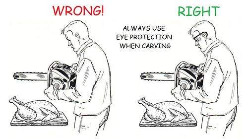 Just learned how to carve a turkey..