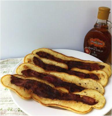 Bacon Strip Pancakes | Serial Breakfast | Pinterest
