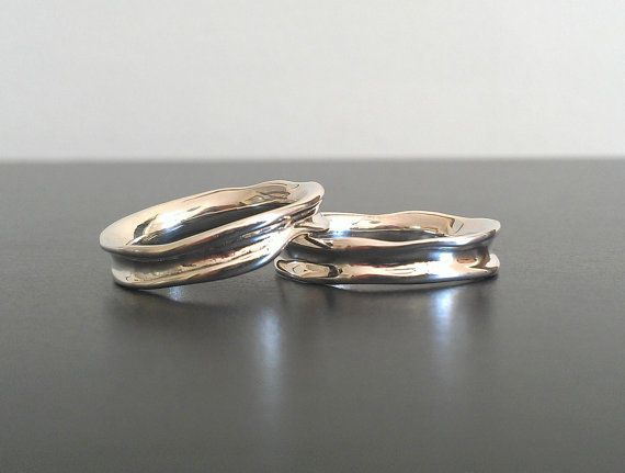 Fluid Nature Wedding Band Set Set of Two Rings by houseonhudson, 300 ...