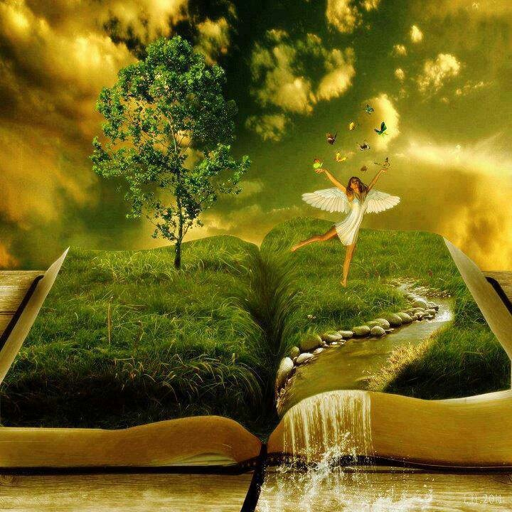 ♂ Dream / Imagination / Surrealism - book angle green nature