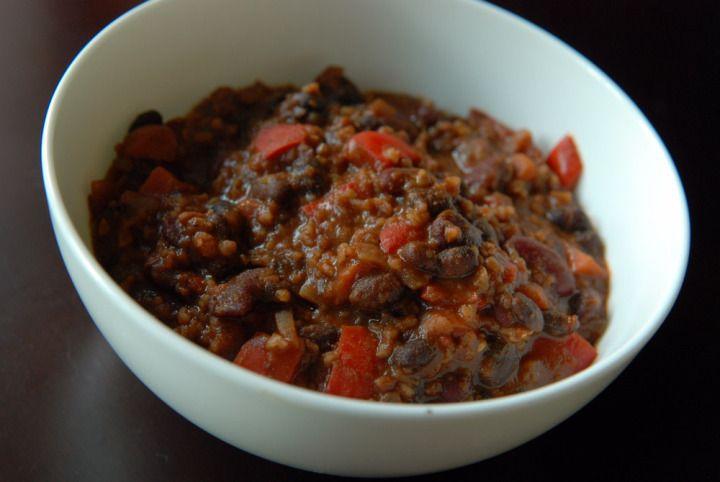 Vegetarian Bulgur Chili (aka Moosewood's Chili Fest Chili, adapted)