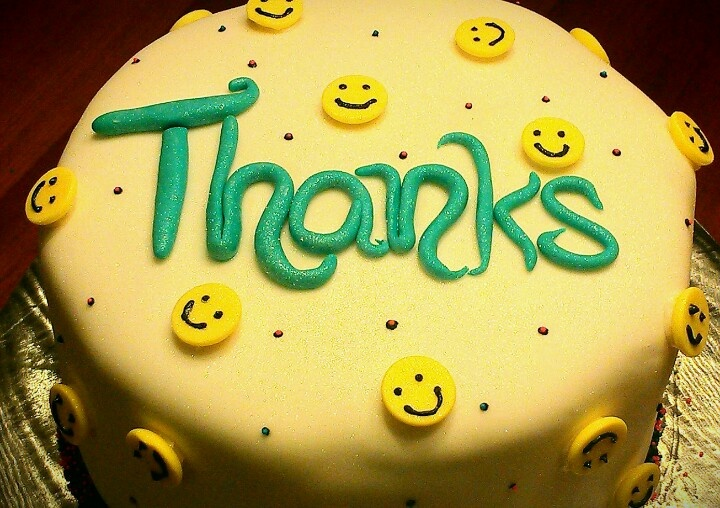Thank you cake... Baking! I love it! Pinterest