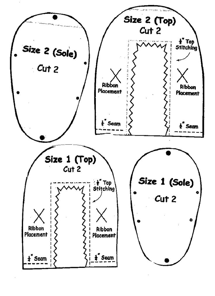 Baby Shoe Pattern Sewing Patterns Shoes