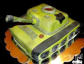 Cam's 10th LEAP YEAR birthday tank cake