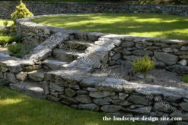 Rock walls landscaping ideas pinterest for Rock wall garden