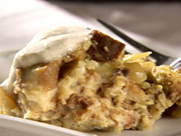 Apple-Cinnamon Bread Pudding with Ginger Ale Sauce from FoodNetwork ...