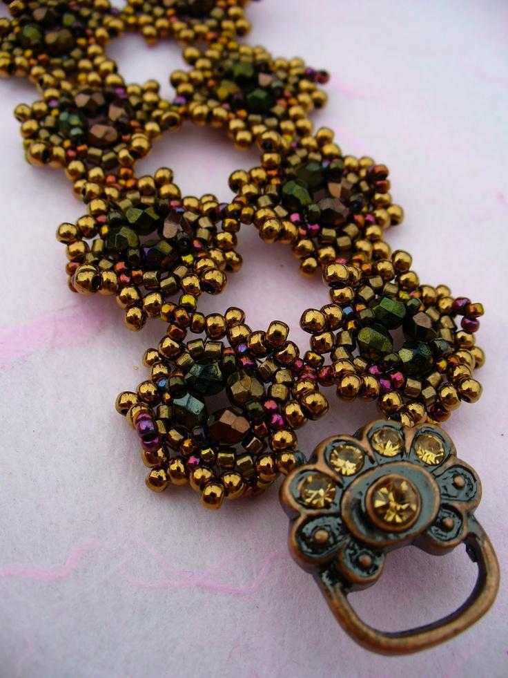 Perlenzauber: lace bracelet