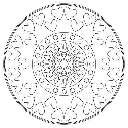 Mandala hearts mandalas pinterest for Heart mandala coloring pages