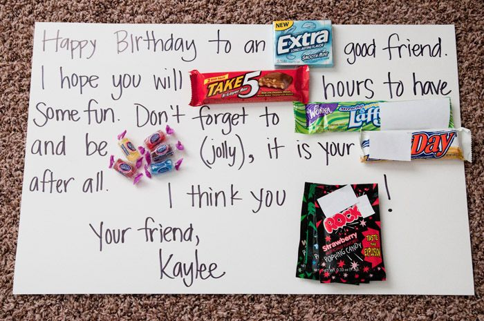 Candy Bar Birthday Letter