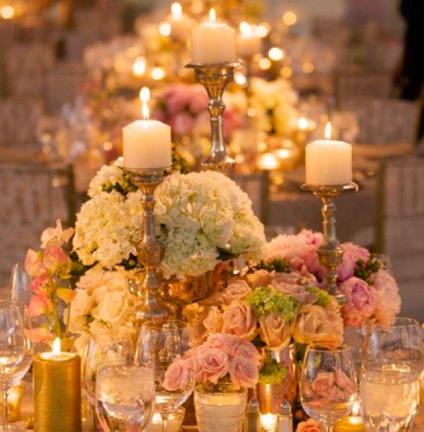Candle and flower centerpiece lauren adam pinterest