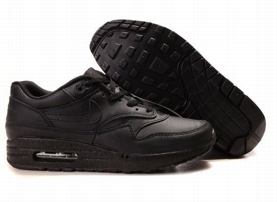 nike air max 1 all black leather shoeporn pinterest. Black Bedroom Furniture Sets. Home Design Ideas