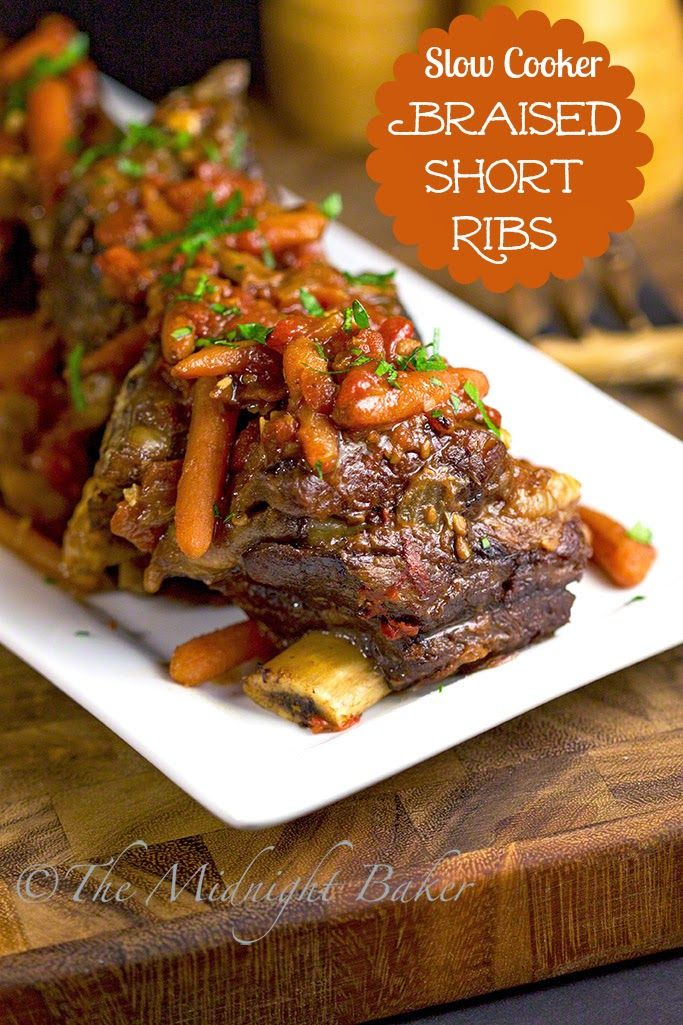 Braised Beef Short Ribs Recipe — Dishmaps