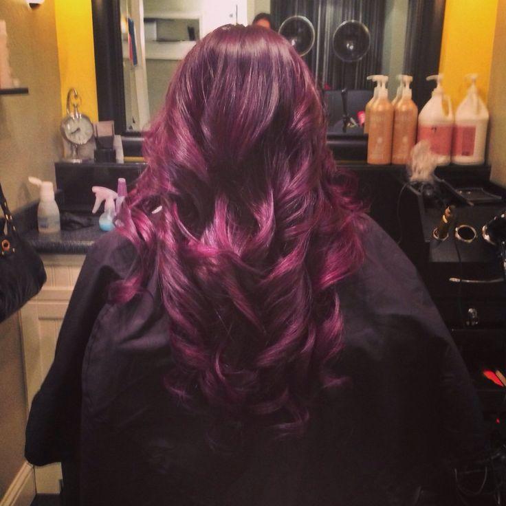 Plum color ombré/balayage highlights | Hair | Pinterest