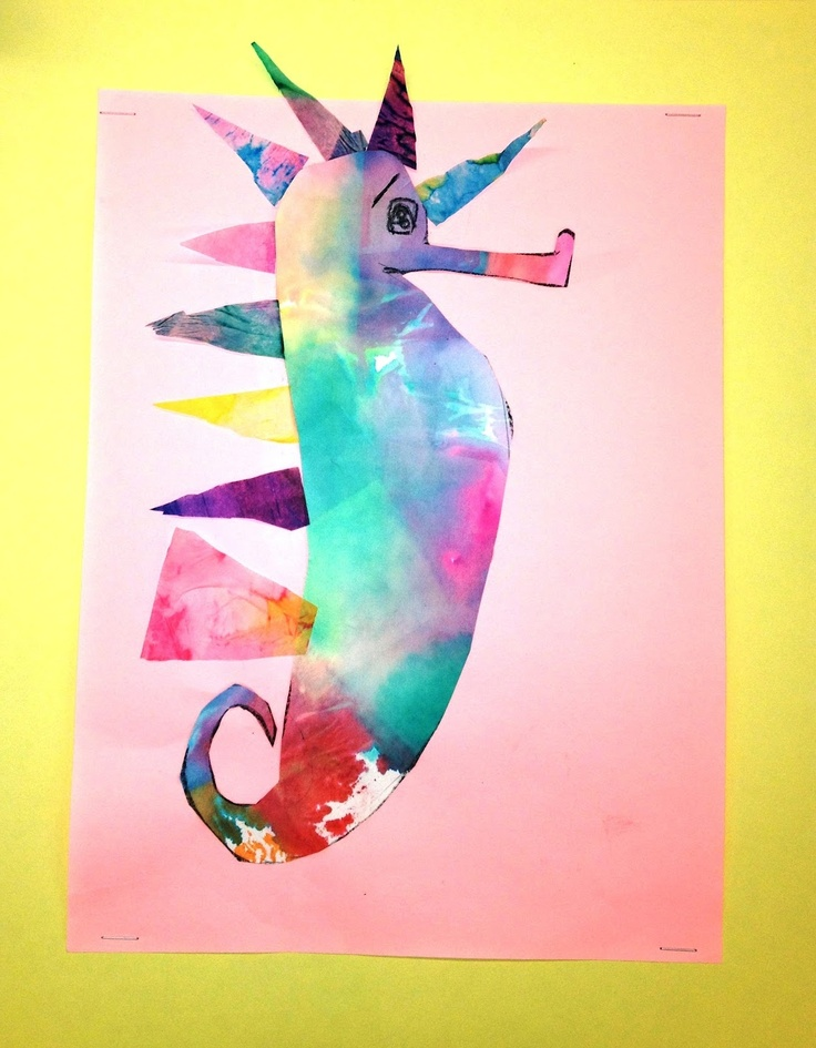 Mr. Seahorse. | art projects for kids. | Pinterest
