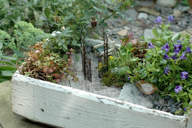 fairy garden box fairy gardens pinterest