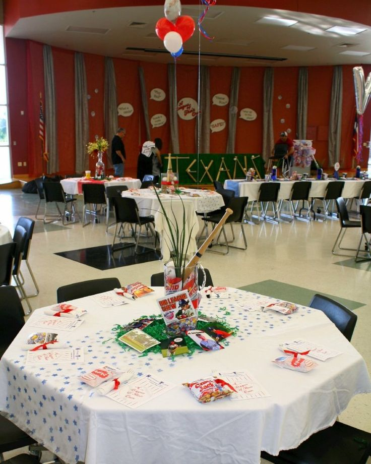 Baseball Banquet Table Decorations Pinterest