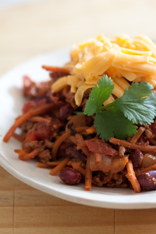 Beef Chili (for candida diet omit toppings of sour cream & cheddar ...