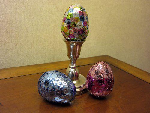 DIY Sequined Easter Eggs | Easter | Pinterest