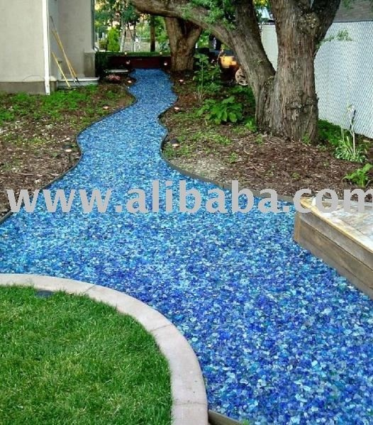Recycled glass mulch bridges and gardens pinterest - Recycled glass for gardens ...