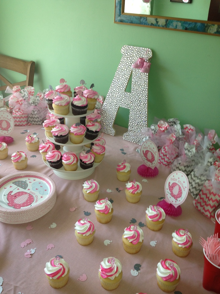 elephant pink and gray baby shower baby shower pinterest