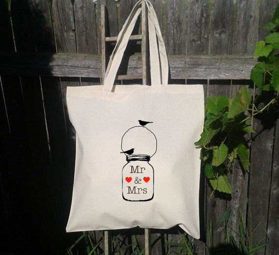 Wedding Welcome Tote  Wedding Bag Mr and Mrs by WhoDoesntWantThat, $8.00