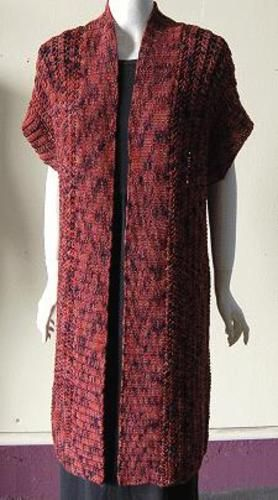 Long Kimono Vest knitting, crocheting and needlepoint ...