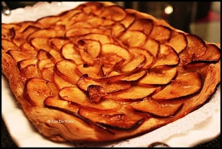 Joie De Vivre: Apple Mosaic Tart with Salted Caramel