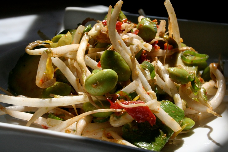 Avocado and Edamame Salad from CookingChannelTV.com by Spice Goddess