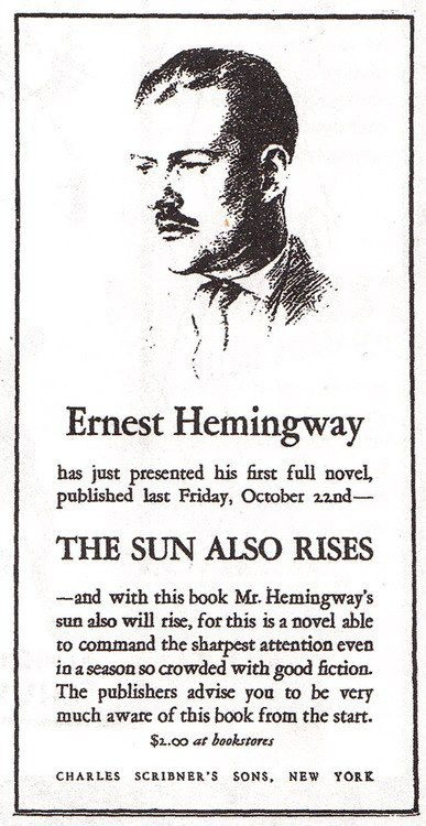 essays on the sun also rises by ernest hemingway F scott fitzgerald's the great gatsby and ernest hemingway's the sun also rises both define the culture of the 1920s through the behaviors and  related essays.
