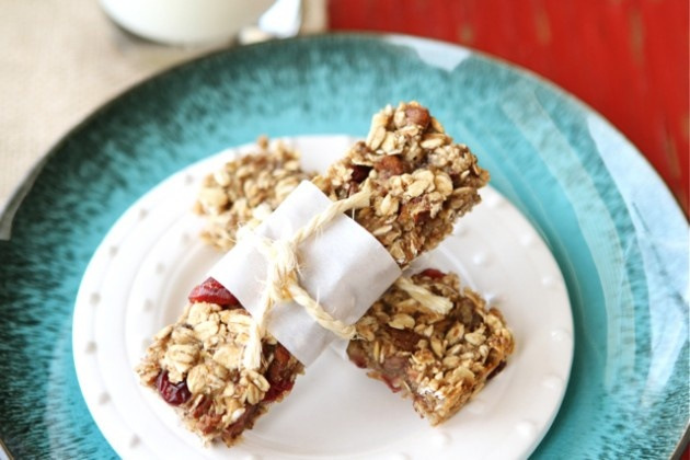low fat granola bars with bananas cranberries amp pecans