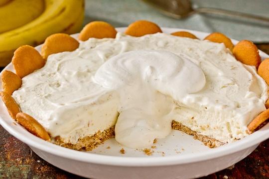 Blueberry Cheesecake Ice Cream Pie, 1-Ingredient Ice Cream, Frozen Or ...